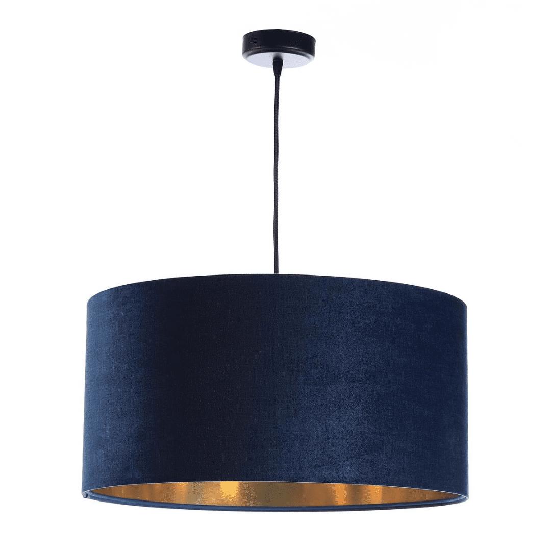 granatowa-lampa-wiszaca-ze-zlotym-wnetrzem-lampy-do-sypialni
