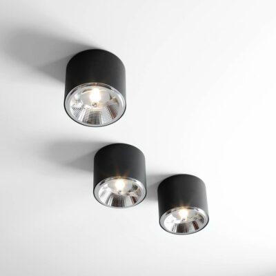 Czarne reflektory sufitowe