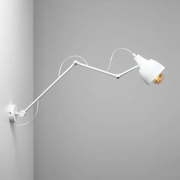 biala-lampa-scienna-regulowana