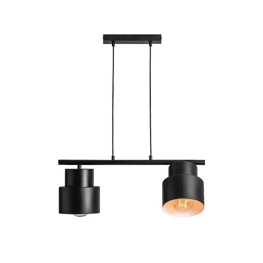 czarne-lampy-do-kuchni-i-jadalni-z-regulowanymi-kloszami