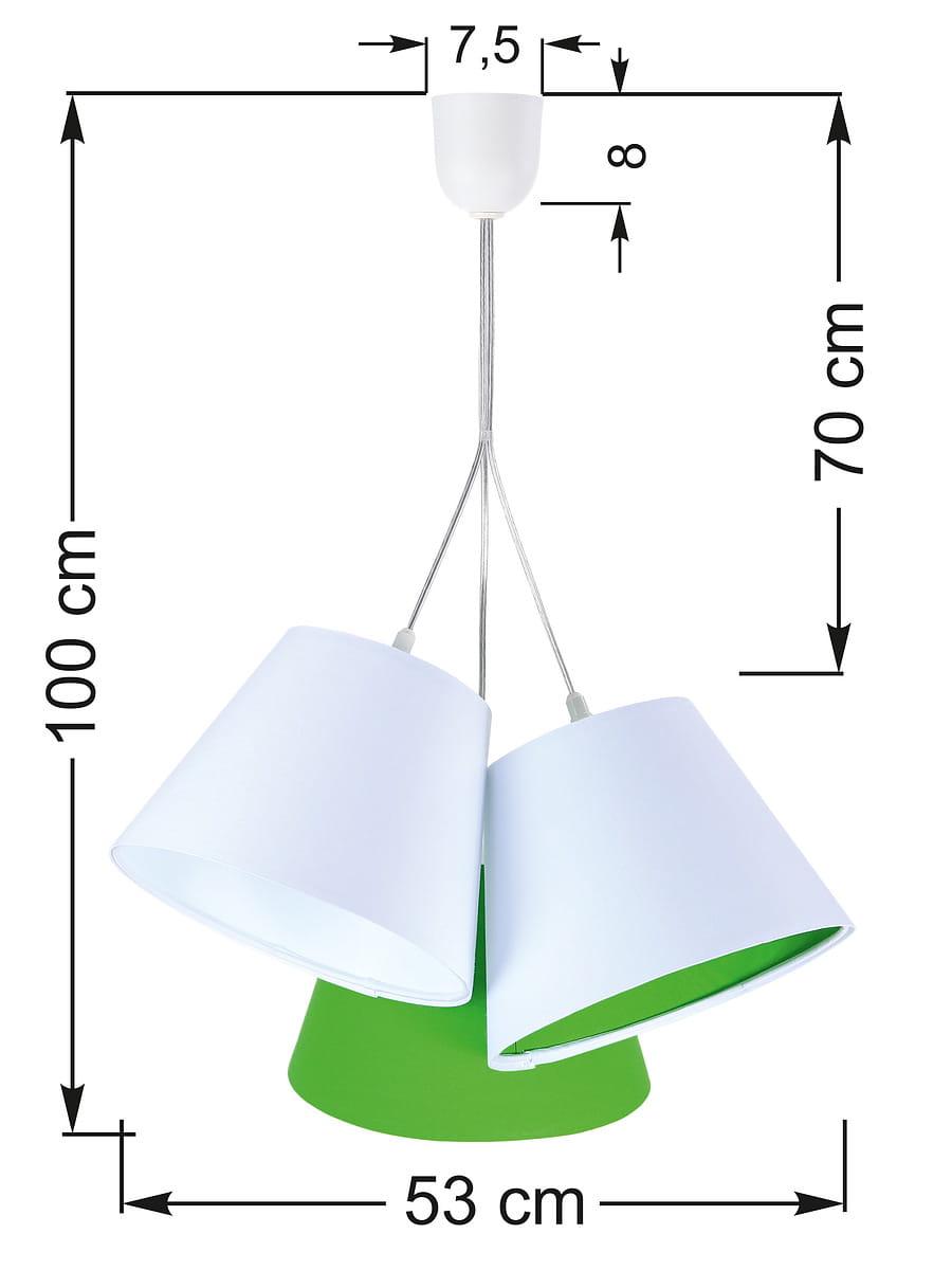 Potrójna lampa wisząca Inzo