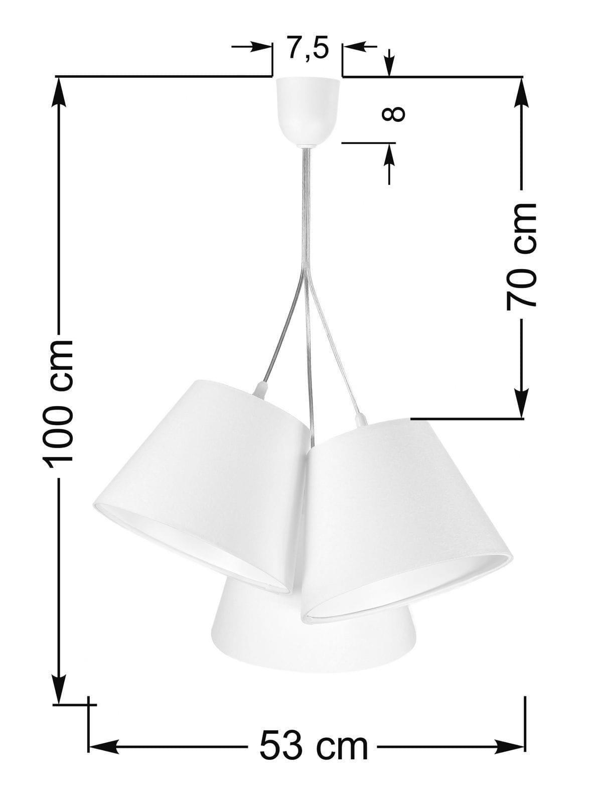 Potrójna lampa wisząca do pokoju dziecięcego Inzo