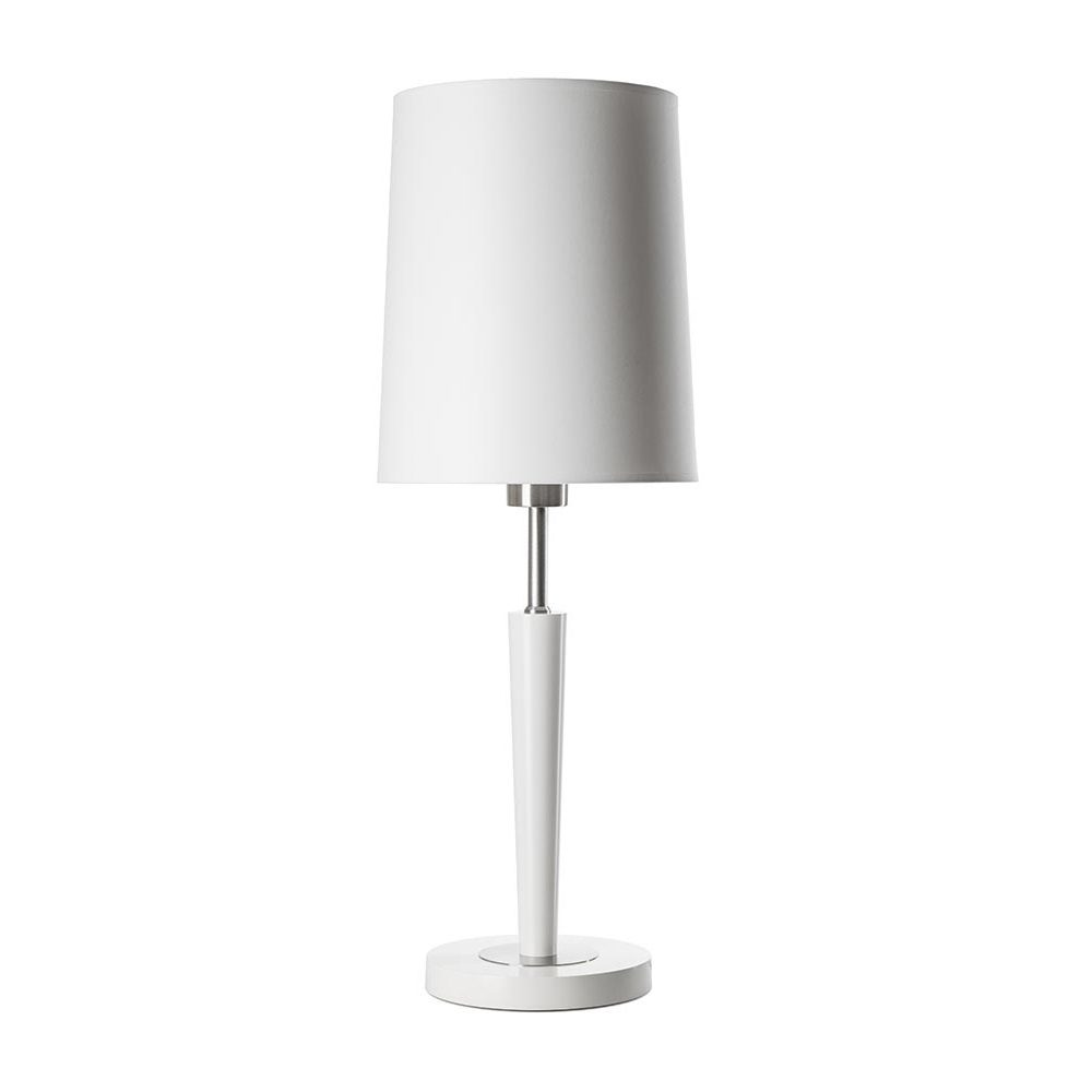 biala-lampka-nocna-z-abazurem