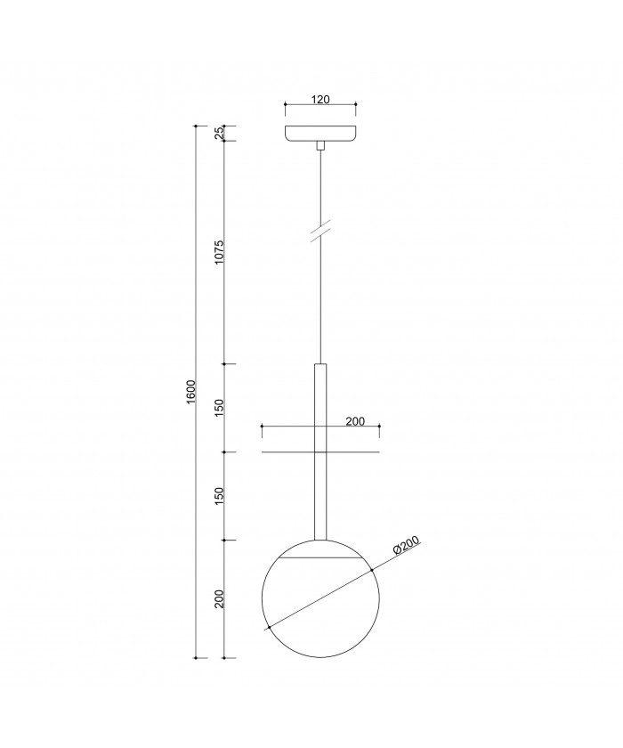 Minimalistyczna lampa wisząca Plaat A w kolorze białym