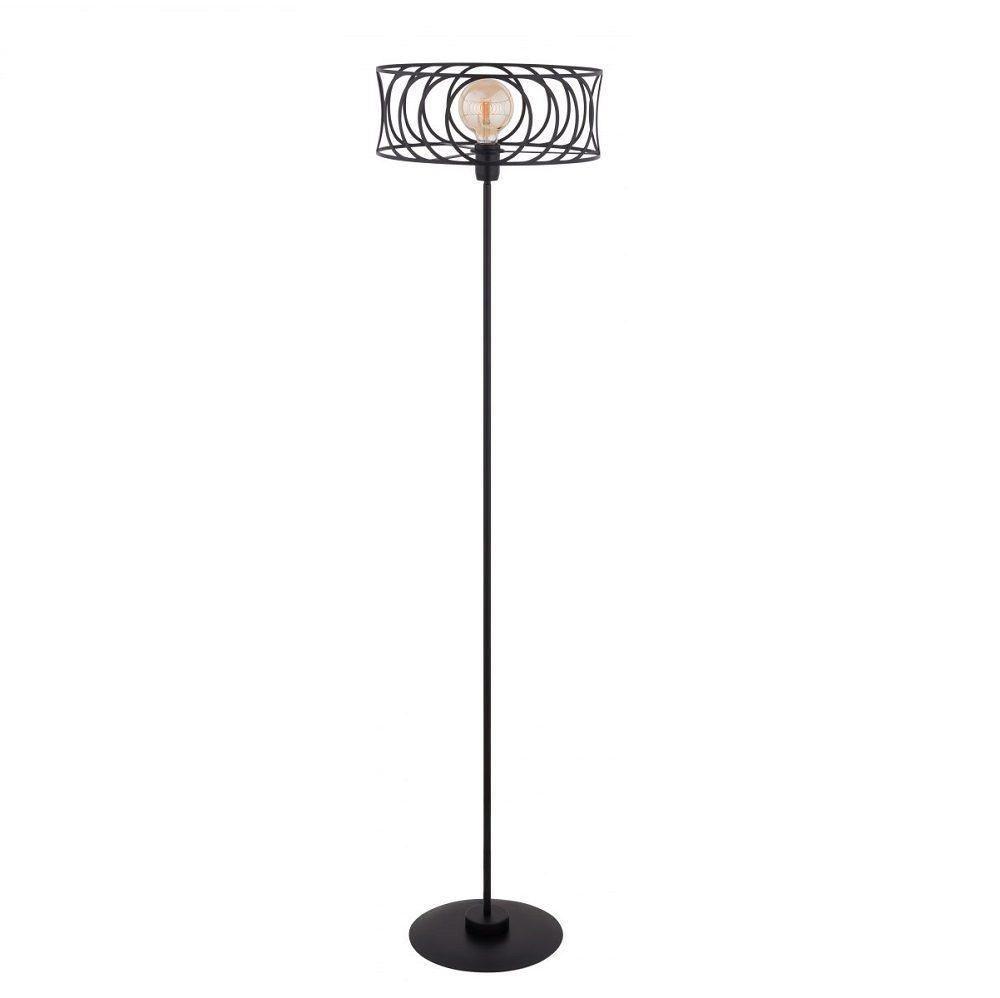 czarna-lampa-stojaca-z-minimalistycznym-kloszem
