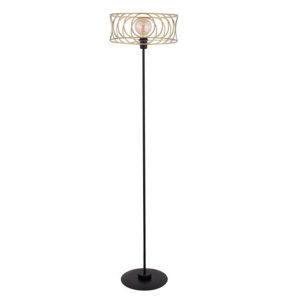zlota-lampa-podlogowa-do-salonu