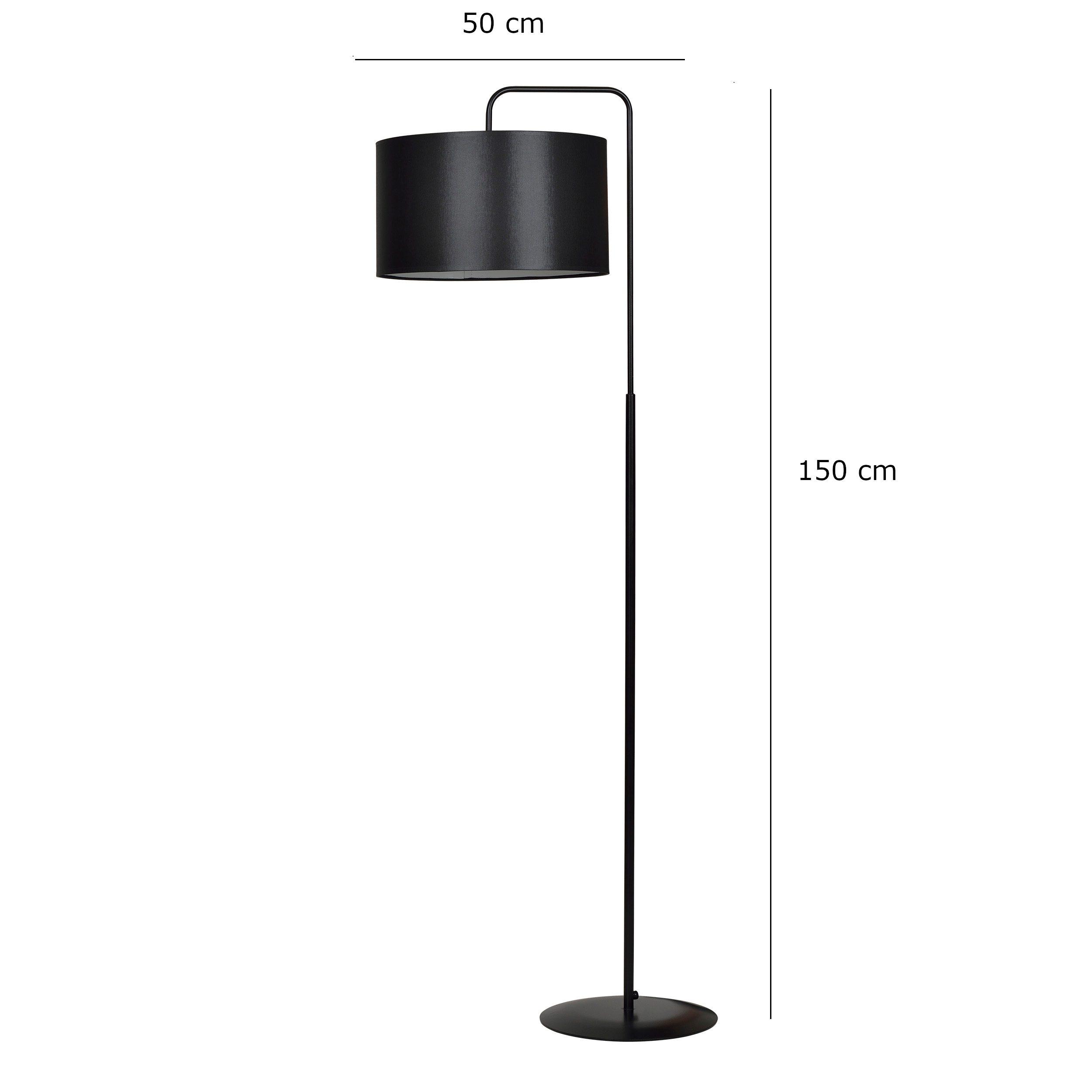 Klasyczna lampa podłogowa Liam z abażurem