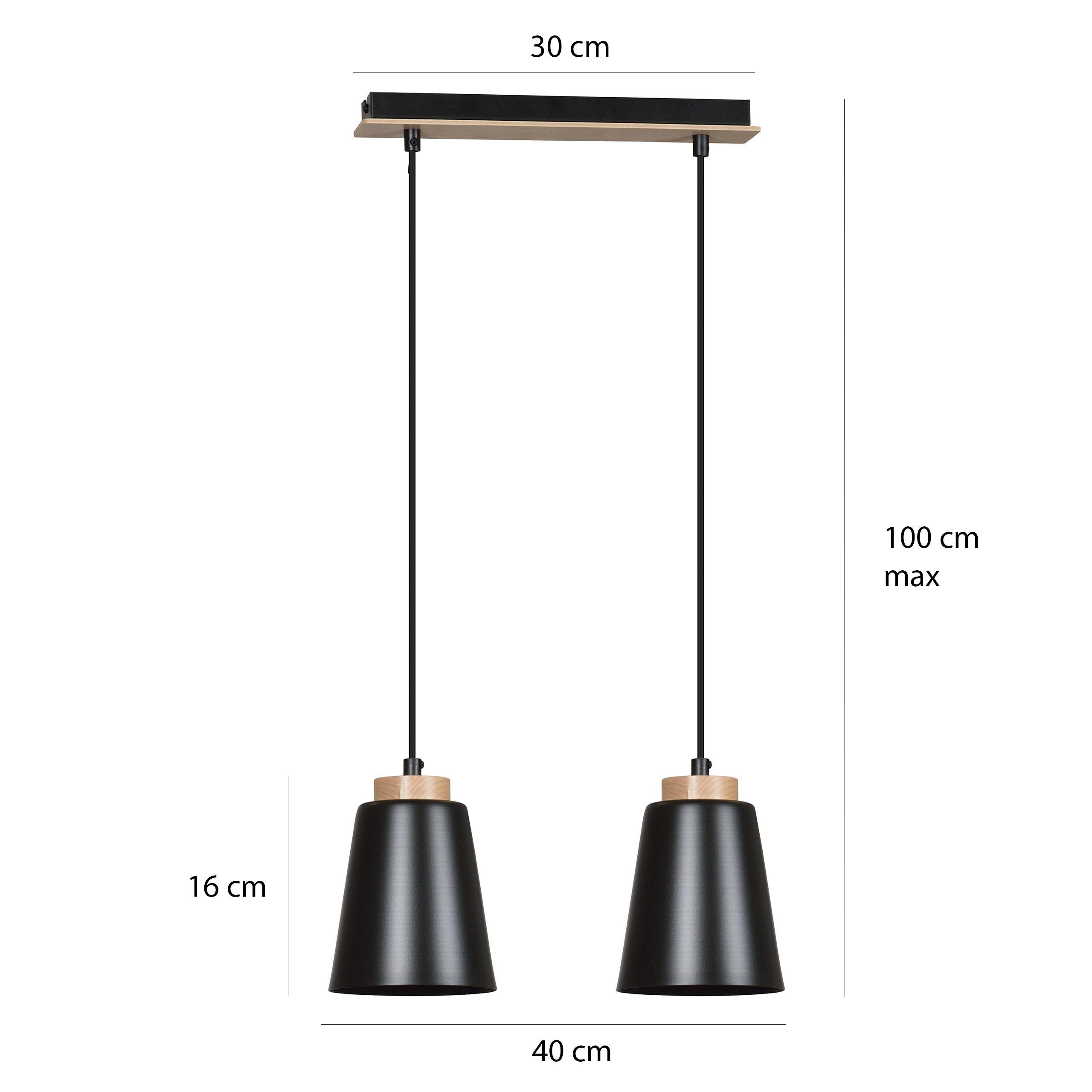 Skandynawska lampa Halima 2 zawieszona na listwie