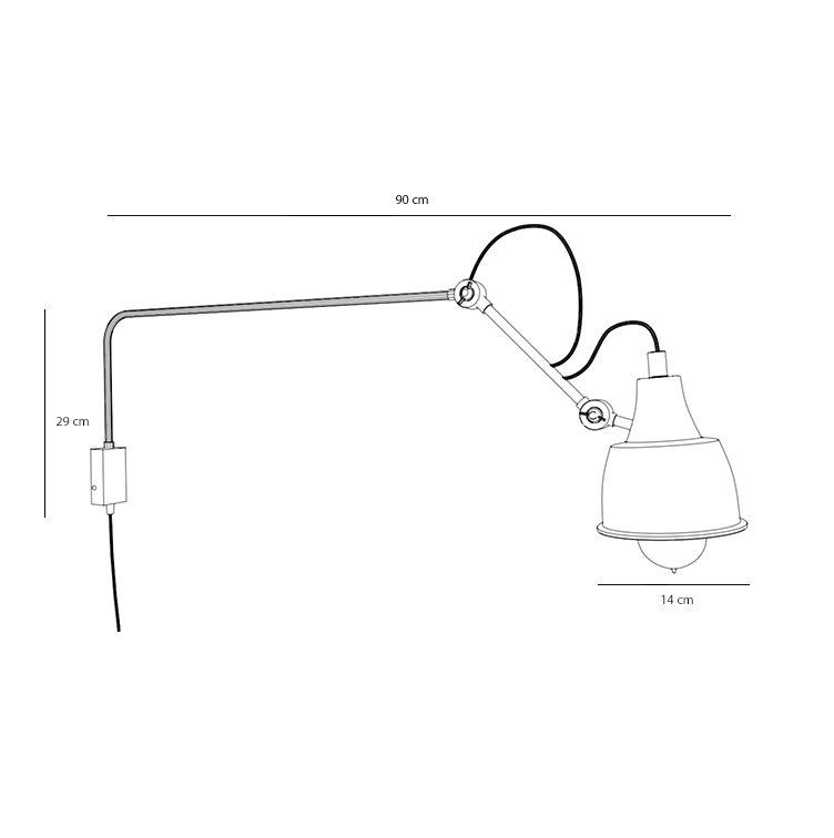 Designerska lampa naścienna Spider Long