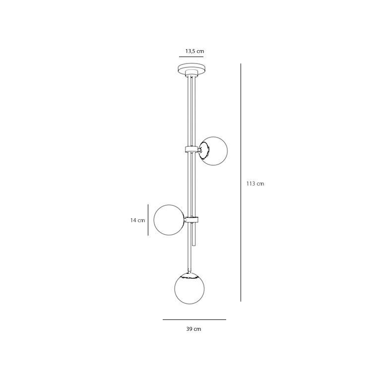 Designerska lampa sufitowa Trumpet 3