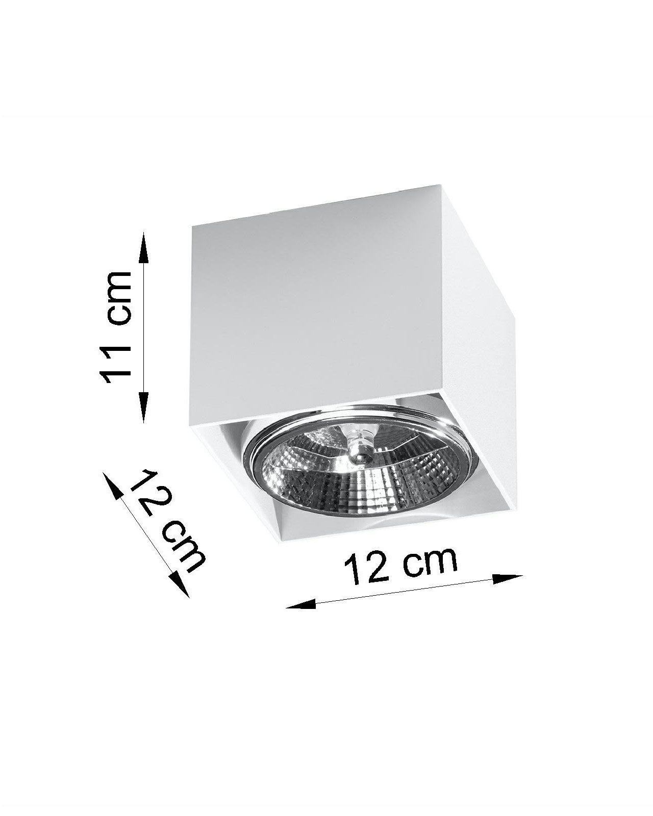 Biały spot sufitowy Cube