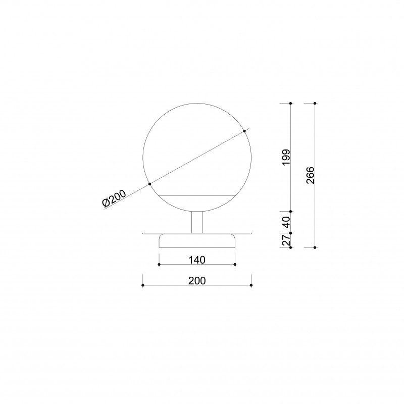 Minimalistyczna lampka stołowa Plaat B