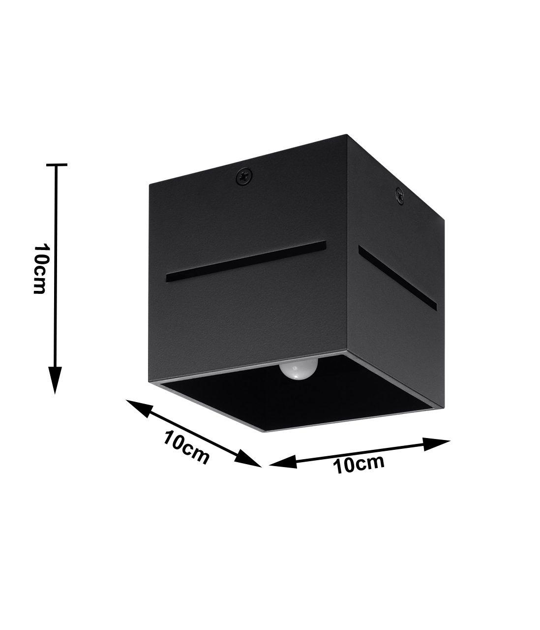 Czarny spot sufitowy Laser